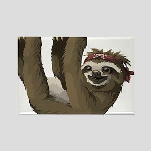 skull sloth Magnets