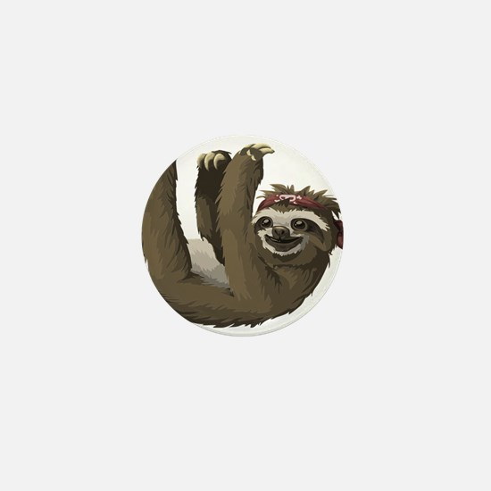 skull sloth Mini Button (10 pack)