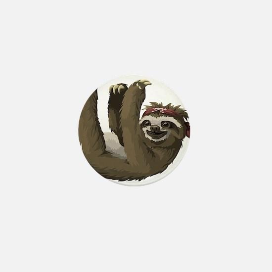 skull sloth Mini Button