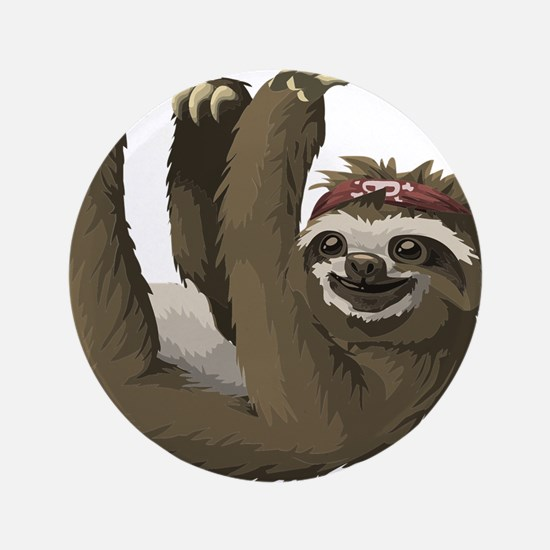 skull sloth Button