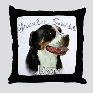 Swissy Mom2 Throw Pillow