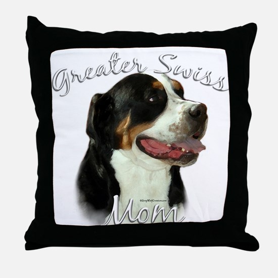 Swissy Mom2 Throw Pillow