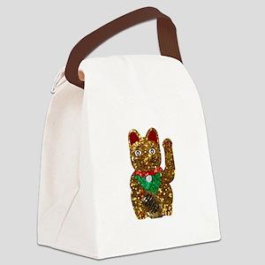 maneki neko cat Canvas Lunch Bag