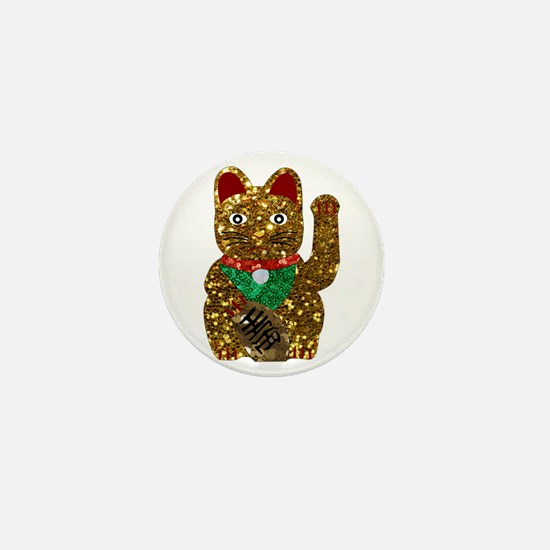 maneki neko cat Mini Button
