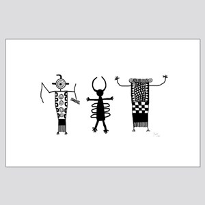 Petroglyph Peoples II Large Poster