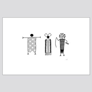 Petroglyph People Large Poster