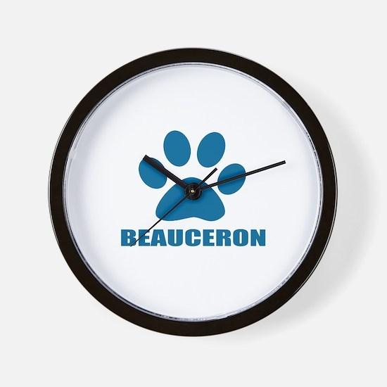 Beauceron Dog Designs Wall Clock