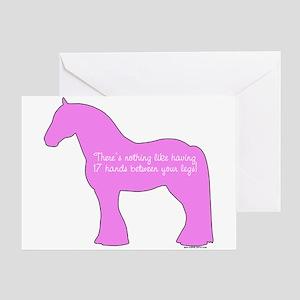 17 hands draft horses. Greeting Card
