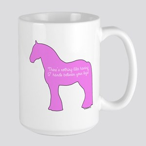 17 hands draft horses. Large Mug