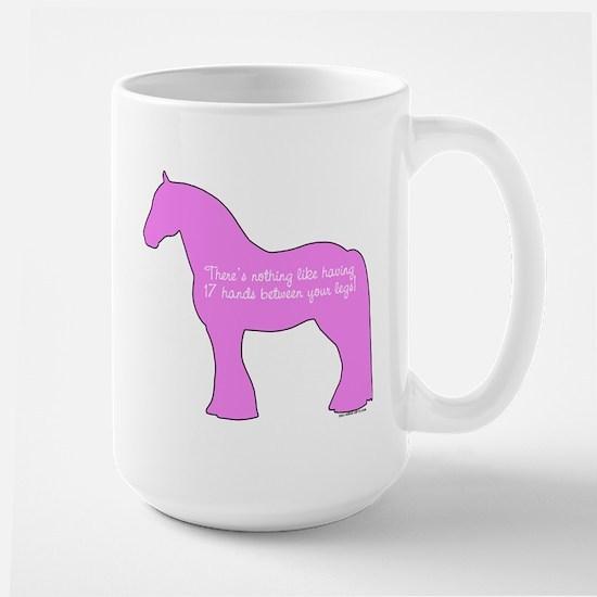 17 hands draft horses. Large Mug