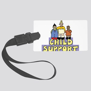 Child support Large Luggage Tag
