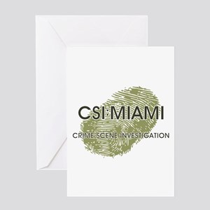 CSI:MIAMI Greeting Card