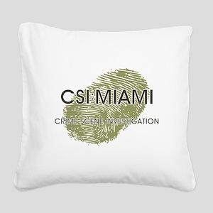 CSI:MIAMI Square Canvas Pillow