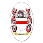 Melville Sticker (Oval 50 pk)