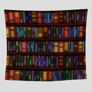 Old Bookshelves Wall Tapestry