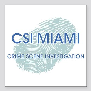 """CSI:MIAMI Square Car Magnet 3"""" x 3"""""""