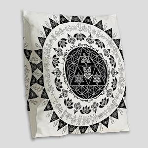 Reverse Everything Mandala Burlap Throw Pillow