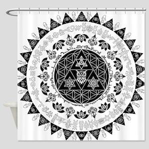 Reverse Everything Mandala Shower Curtain