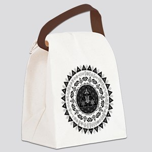 Reverse Everything Mandala Canvas Lunch Bag