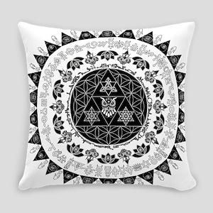 Reverse Everything Mandala Everyday Pillow