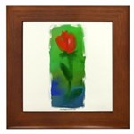 Rose Framed Tile