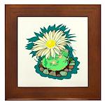 Desert Cactus Framed Tile