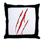 Clawed to Death Throw Pillow