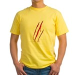 Clawed to Death Yellow T-Shirt