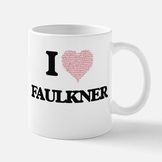 I Love Faulkner Mugs