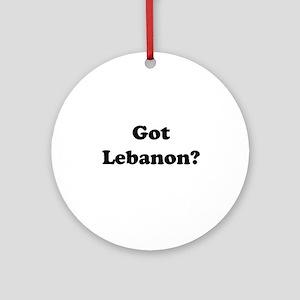 Got Lebanon Ornament (Round)