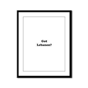 Got Lebanon Framed Panel Print