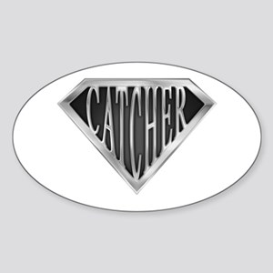 SuperCatcher(metal) Oval Sticker