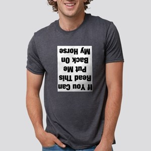 If you can read this...(black Ash Grey T-Shirt