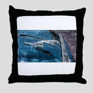 Jaguar Hood Ornament Throw Pillow