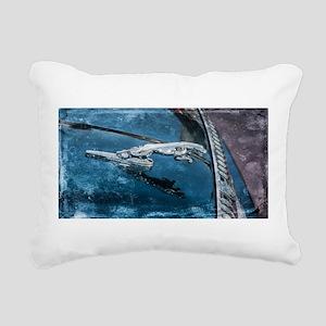 Jaguar Hood Ornament Rectangular Canvas Pillow