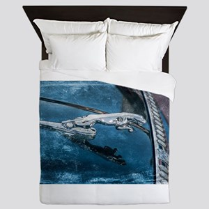 Jaguar Hood Ornament Queen Duvet