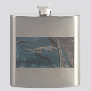 Jaguar Hood Ornament Flask