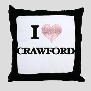 I Love Crawford Throw Pillow