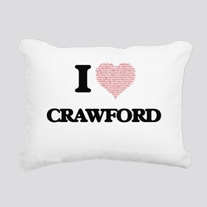 I Love Crawford Rectangular Canvas Pillow