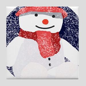 Little snowman Tile Coaster