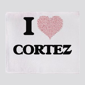 I Love Cortez Throw Blanket
