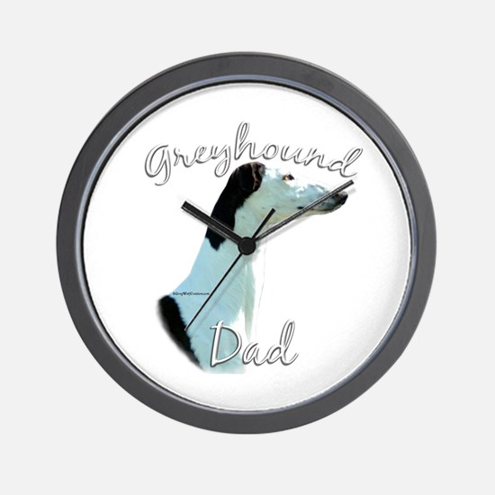 Greyhound Dads2 Wall Clock