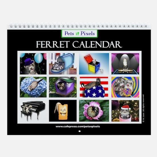 Ferret Wall Calendar