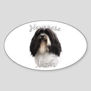 Havanese Mom2 Oval Sticker