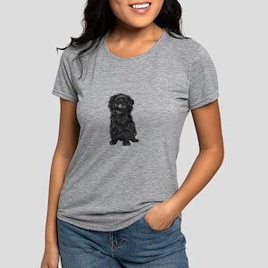Affenpinscher (black) Womens Tri-blend T-Shirt