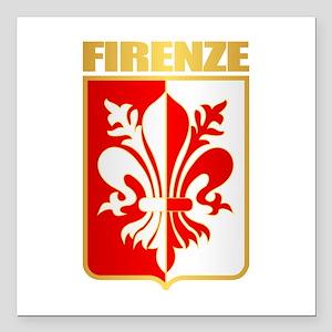 """Firenze Square Car Magnet 3"""" x 3"""""""