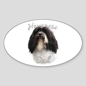 Havanese Dad2 Oval Sticker