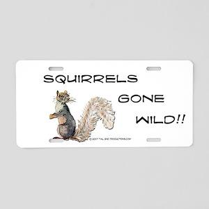 Wild Squirrel Aluminum License Plate