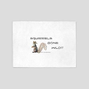 Wild Squirrel 5'x7'Area Rug