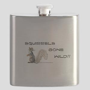 Wild Squirrel Flask